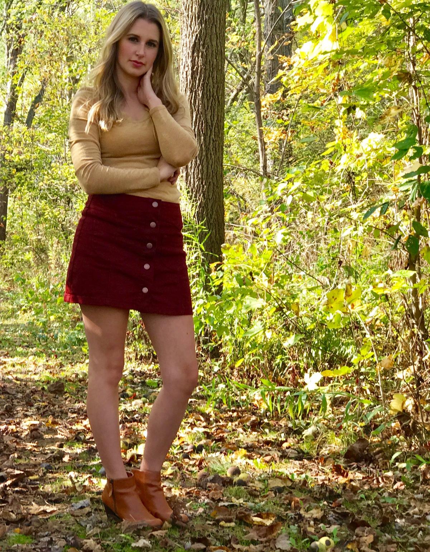 Fall Mini Skirts &Sweaters