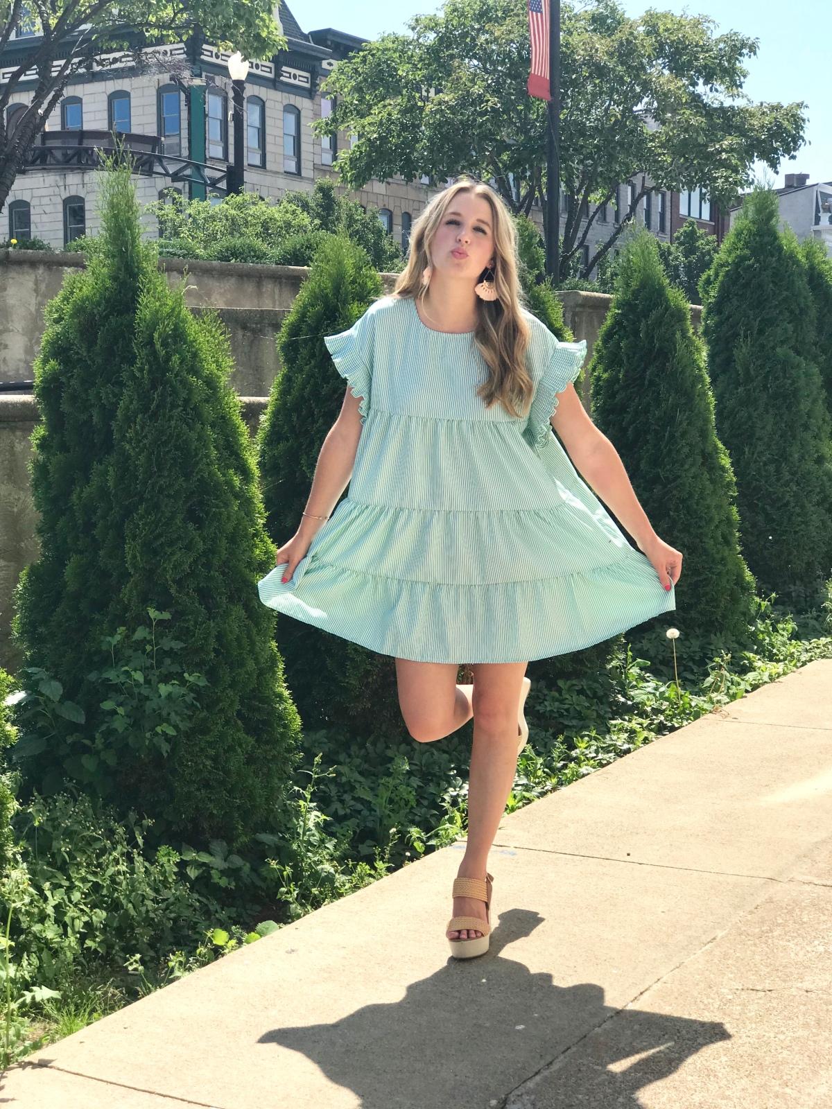 Adorable Tiered Dress forSummer