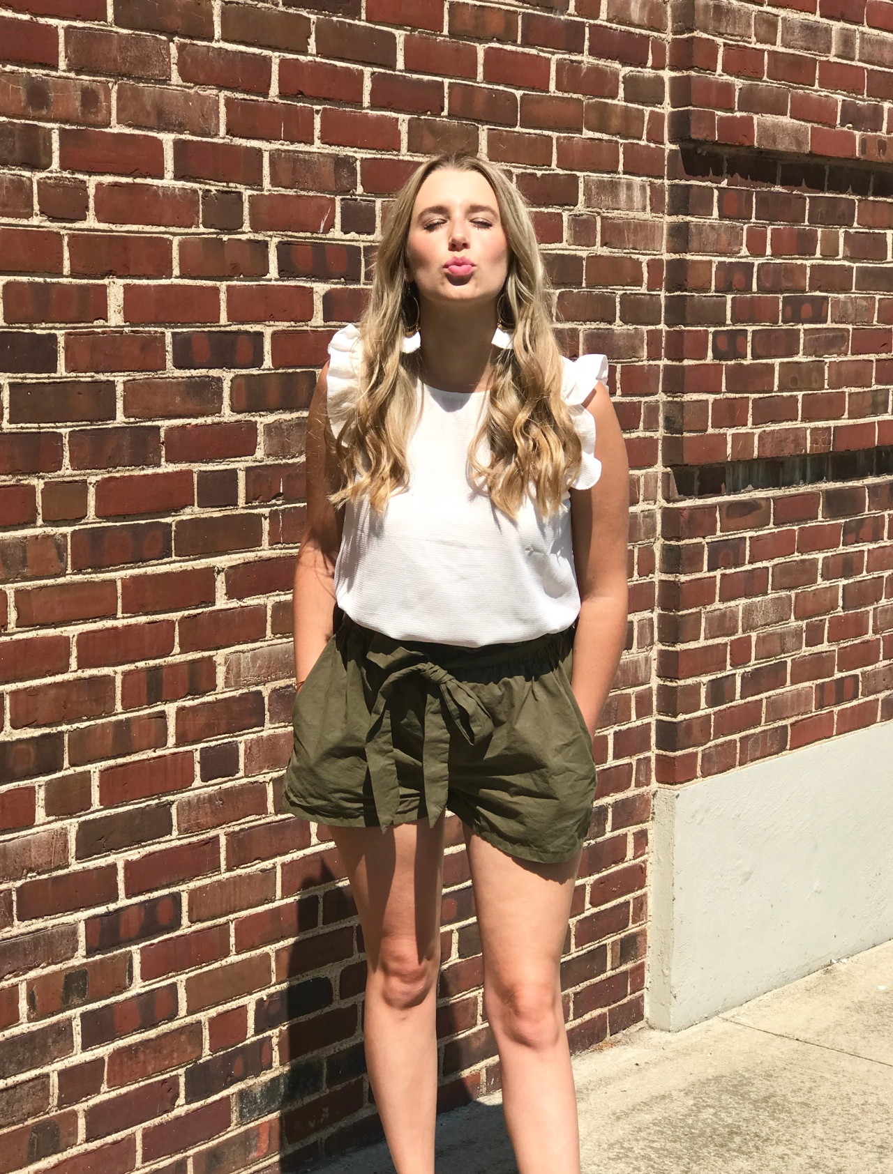 Paper Bag Shorts & Ruffle Tank